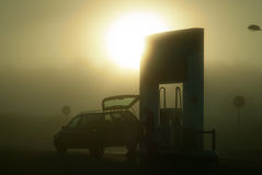 In the morning on filling station Stock Image