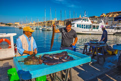 The morning fish market in Marseilles Royalty Free Stock Photos