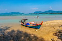 Morning of the fisherman royalty free stock images