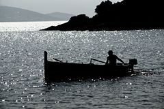 Morning fisherman Royalty Free Stock Image