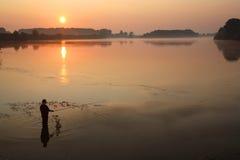 Morning fishing. Royalty Free Stock Photo