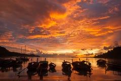 Morning Fishing boat Stock Photo