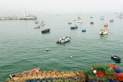 Morning at the fishing port at Cascais, Portugal Stock Photography