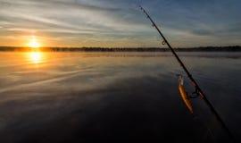 Morning fishing scenery in Sweden Stock Image
