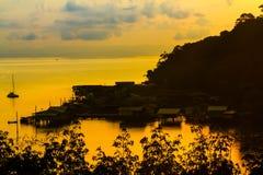 Morning  fishing village Royalty Free Stock Photography