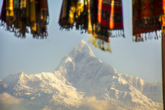 Morning in Fishtail peak of Annapurna stock photo