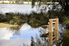 Morning floods Stock Photography