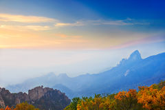Morning fog of ancestral mountain Royalty Free Stock Image