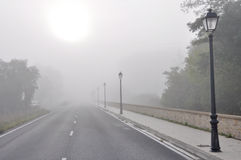 Morning fog, Basque Country Stock Image