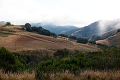 Morning fog, California Coast Range stock photo