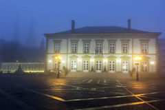 Morning fog in the center of Luxembourg City Stock Photography