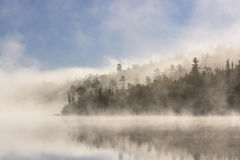 Morning Fog Clearing in the Sun stock photos