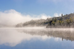 Morning Fog and Clouds in the North Woods Royalty Free Stock Images
