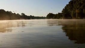 Morning fog on the Danube river