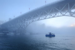 Morning Fog, False Creek, Vancouver Royalty Free Stock Images