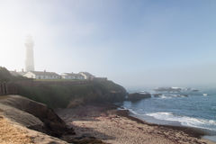 Morning fog on Highway One Stock Photography