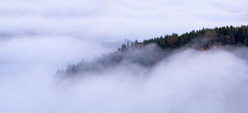 Morning fog and island Royalty Free Stock Image
