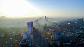 Morning fog. At jakarta royalty free stock images