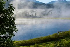 Morning fog on lake Royalty Free Stock Image