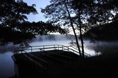 Morning fog on lake Royalty Free Stock Images