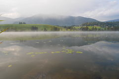 Morning Fog at a Lake Putterer Stock Photo