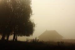 Morning fog landscape Stock Photography
