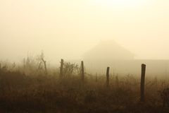 Morning fog landscape Royalty Free Stock Photography