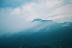 Morning fog landscape with mountains Royalty Free Stock Photography