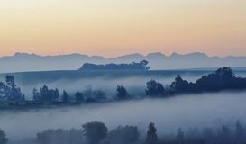Morning fog.. Royalty Free Stock Image