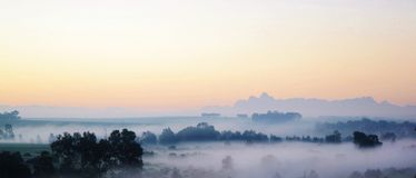 Morning fog.. Royalty Free Stock Images