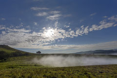 Morning fog move in. Drakensberg, South Africa Stock Photos