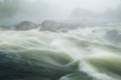 Morning fog over the river Stock Photography