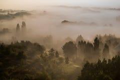 Morning fog in Prague. Royalty Free Stock Images