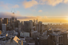 Morning Fog in San Francisco Stock Photography