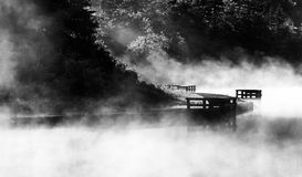 Morning fog on Spruce Knob Lake, Monongahela National Forest, WV Stock Images