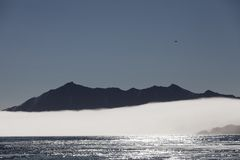 Morning fog in Van Mijenfjorden, Svalbard Royalty Free Stock Images