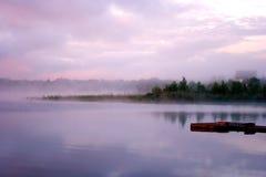 Morning fog water royalty free stock image