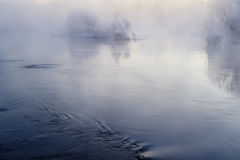 Morning fog and wave Royalty Free Stock Image