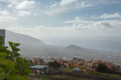 Morning. Foggy morning. Tenerife, Canary Islands royalty free stock photography