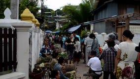 Morning food market at Luang Prabang Royalty Free Stock Photo