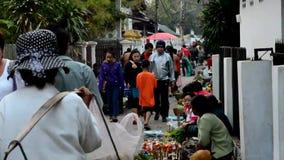 morning food market  in Luang Prabang Royalty Free Stock Images