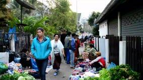 Morning food market  in Luang Prabang Stock Photo