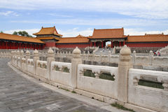 Morning in Forbidden city 5 Royalty Free Stock Photography