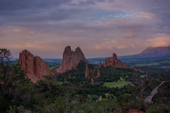 Morning at Garden of the Gods, Colorado Royalty Free Stock Photos