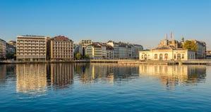 Morning in the Geneva streets Stock Photo