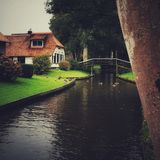 A morning in Giethoorn stock photos