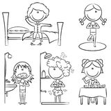 Daily Morning Girls Life Stock Image