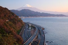 Mt. Fuji and Expressway Stock Images
