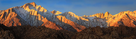 Morning glow panorama, California, USA.. Royalty Free Stock Photo