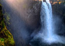 Morning Glow on Snoqualmie Falls Stock Image